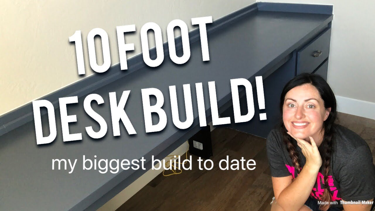 Brandi, host of Eternal Harvest Home Decor, presents on how to build this built-in 10-foot desk for your home office in this episode.